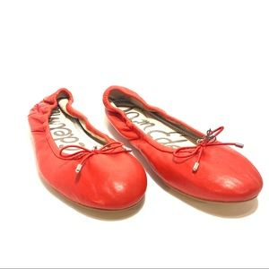 Women's Sam Edelman Red Soft Leather Flats.Sz7.5M